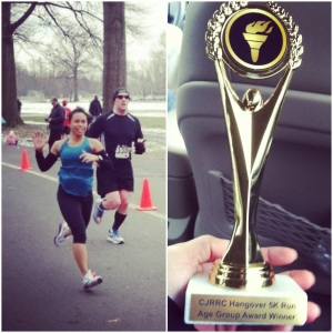 3rd Place (age group)- Hangover 5k