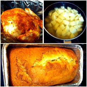 Chicken, Potatoes & Banana Bread