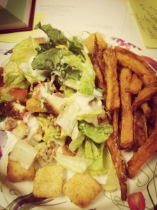Half Salad/Half Fries