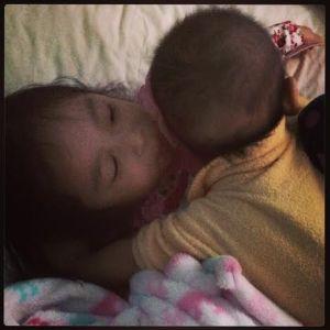 Goodnight sibling kisses