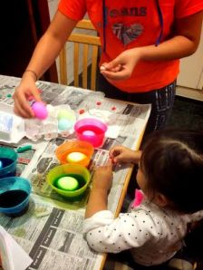 Decorating our Eggs