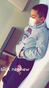 sick nephew