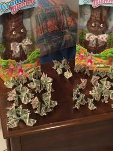 Oragami Money Bunnies