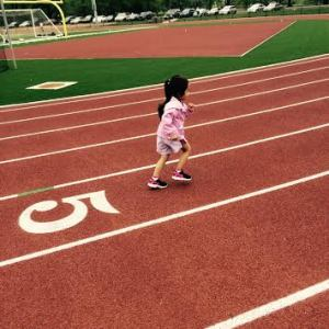 Lili's 1st track workout