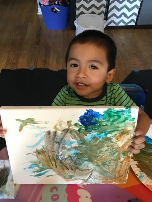 b painting